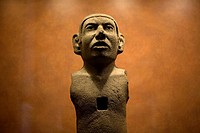 A Mexica sculpture representing a man is displayed in the National Museum of Anthropology in Mexico City, December 1, 2011  The National Museum of Ant...