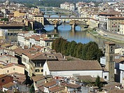 Florence Italy  Ponte Vecchio on the Arno River in Florence