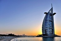 Burj al Arab, the Luxury Hotel on Jumeirah Beach  Dubai, United Arab Emirates