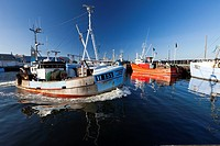 Fishing Boat, leaving the Harbour, Gilleleje, Sjaelland, Denmark
