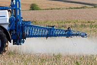 Crop Sparying of Herbicides on Stubble, Lower Saxony, Germany