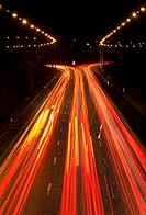 Time_lapse view of traffic at night