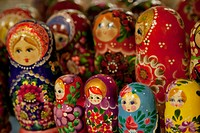 Estonia, Tallinn, Harju, Harjumaa, souvenir russian dolls ...
