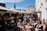 Estonia, Tallinn, Harju, Harjumaa, Town Hall Square restaurant ...