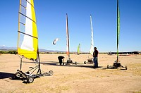 Group of people practicing Blokart in Madrid