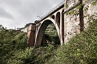 Valdetocino railway bridge  Asturias  Spain  Europe