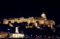 Hungary, Budapest, Buda Castle from across the Danue River in Pest
