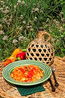 Lecso with pepper and tomatoes Hungary