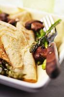Asparagus and Mushroom Crepes, Fork