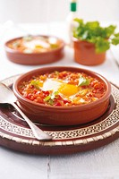 Tomatoes and fried egg Moroccan