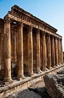 Bacchus temple , archaelogical site of Baalbek,UNESCO World Heritage Site  Bekaa valley  Lebanon