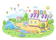 Concept of children playschool