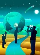Illustration of global communications