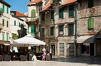 Vocni trg Fruit square, Split, region of Dalmatia, Croatia, Europe