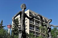 Mario Armengol sculpture, ´The Family of Man´, Calgary Board of Education, downtown Calgary, Alberta, Canada