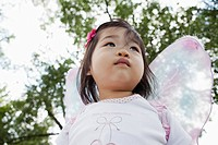 Portrait of cute baby girl 1_2 in butterfly costume
