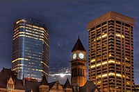 Night, Old City Hall, Downtown Toronto, Ontario, Canada