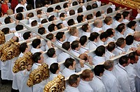 Holy Week, Brotherhood of the Last Supper, Men of Throne, Malaga, Spain