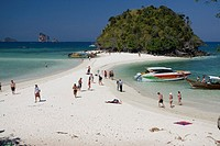 Ko Tup island off Ao Nang beach near Krabi Thailand  Most tourists visit on a one day powerboat or longtail boat trip