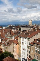 panorama from the cathedral, lausanne, switzerland, europe