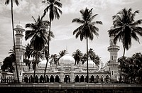 Jamek Mosque in Kuala Lumpur, Malaysia  Built in 1907, this mosque is the oldest in KL and was built by Arthur Benison Hubbock