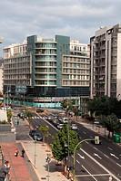View of street Aurea Diaz Flores. Santa Cruz de Tenerife.