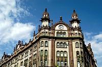 Hungary, Budapest Pest, The Takarekpenztar Savings Bank building on Kosuth Lajos Street 1909-1911