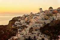 Oia at Sunset, Santorini, Cyclades, Greece