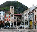 Flaminio square, Vittorio Veneto city, Veneto, Italy