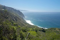 The coast of Big Sur, California.