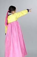 Little Girl in Korean Traditional Clothing, Hanbok