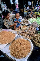 Yangon street market, Myanmar