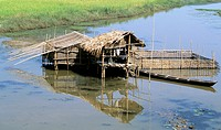 Life on pile-dwellings, Lake Inle, Myanmar