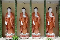 Statues in the Kek Lok Si Temple or Temple of Supreme Bliss, Penang, Malaysia