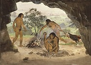 Homo erectus, artwork. Homo erectus is the most widespread and longest_surviving of all the fossil hominids. Its geographical spread included north an...