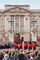 Change of guards, Buckingham Palace, London, England, United Kingdom