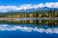 The Steeples, Rocky Mountain vista and the Kootenay River, East Kootenay Region, British Columbia, Canada