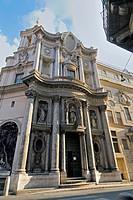 San Carlo alle Quattro Fontane Church, better know as San Carlino, Rome, Latium, Italy