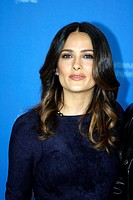 Actress SALMA HAYEK poses for photographers at the photocall for the film 'As Luck Would Have It' during the 62nd Berlin International Film Festival B...
