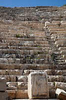 The theatre, dated to Hellenistic times, was rebuilt by Polyperchon, a monk of Apollo, at the beginning of the 1st century AD. The theatre was partly ...