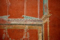 Italy, Naples National Archeological Museum, from Pompeii, Isis Temple, Third Style Decoration