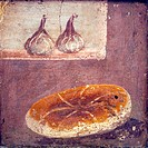 Italy, Naples, Naples National Archeological Museum, Herculaneum, Still Life with Bread and Figs