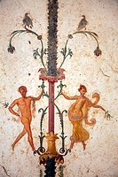 Italy, Naples, Naples Museum, from the Villa of Arianna in Stabiae, Naked Flying Figures