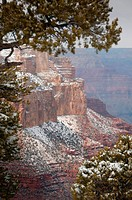 Snow scene at Grand Canyon