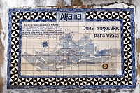 Tile picture, Church Santa Luzia, Alfama, Lisbon, Portugal, Europe