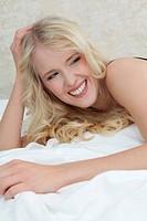Young blond woman, portrait