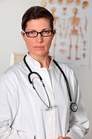 Female doctor looking at camera
