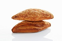 Gouda cheese bread on white background, close up