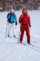 Crosscountry skiing in Finnish Lapland