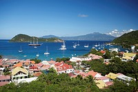 Aerial view of Terre_de_Haute, Les Saintes Islands, Guadeloupe, Caribbean Sea, America
